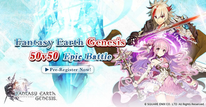 Asobimo and Square Enix set to launch Fantasy Earth Genesis MMOARPG for mobile